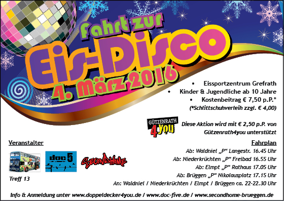 Flyer Eisdisco 04.2016